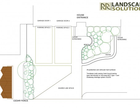 garden plan front of the house LH